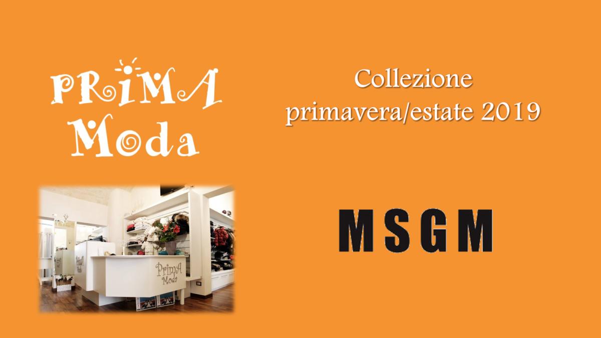 MSGM kids collezione primavera estate 2019