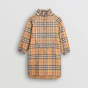 Vestitino chemisier in cotone con motivo Vintage check