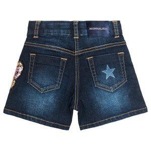 Short jeans stelle e paillettes