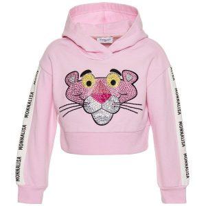 Felpa chiusa corta Pink Panther