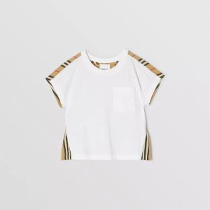 T-shirt in cotone con iconico motivo a righe
