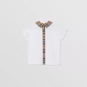 T-shirt cotone con arricciature sulle maniche e dettagli check