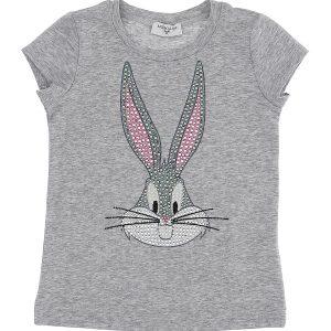 T-shirt melange strass bugs bunny