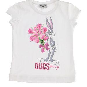 T-shirts fiori e strass bugs bunny