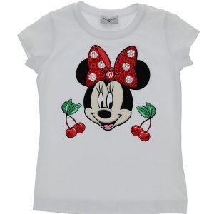 T-shirt jersey minnie/ciliegie