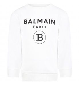 FELPA BIANCA BALMAIN PARIS